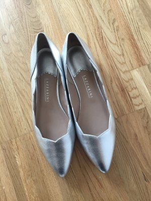 lazzarini Ballerinas with Toecap silver-colored