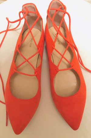 Graceland Strappy Ballerinas salmon