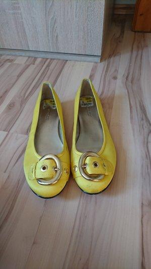 Graceland Ballerine à bride arrière jaune citron vert