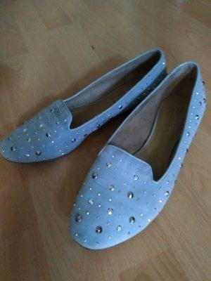 Tamaris Ballerinas azure imitation leather
