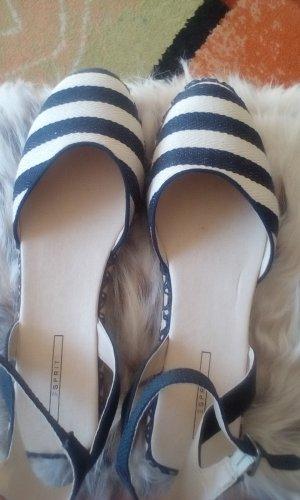 Esprit Ballerinas dark grey-natural white linen