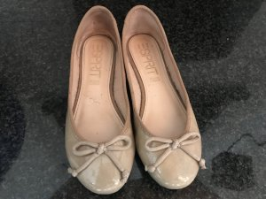 Esprit Patent Leather Ballerinas beige-camel leather