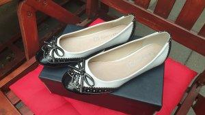 Patent Leather Ballerinas black-white imitation leather