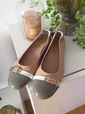 Patent Leather Ballerinas pink-grey brown