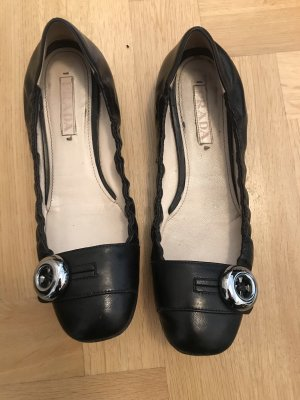 Prada Mary Jane Ballerinas black leather
