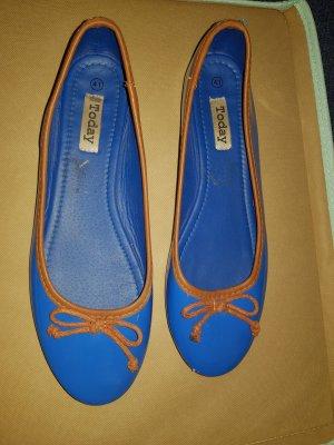 Today Lakleren ballerina's neon blauw