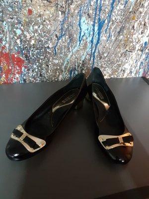 Guess Bailarinas negro-color oro
