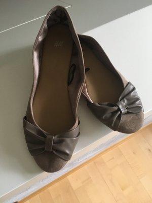 Ballerinas, H&M, Größe 39, beige