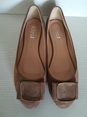 Ideal Ballerinas light brown imitation leather