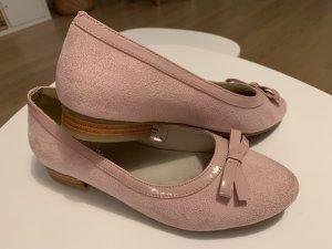 Hirschkogel Patent Leather Ballerinas pink textile fiber
