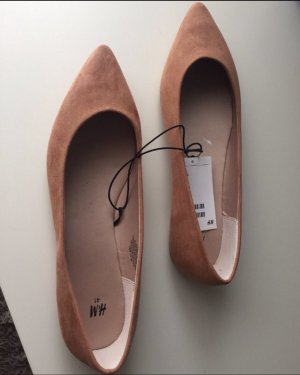 H&M Ballerinas with Toecap cognac-coloured