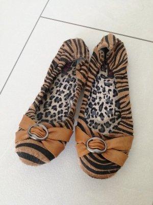 Ballerinas im Leo Look Leoparden Muster Schuhe