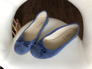 Janet D Ballerines pliables bleu acier