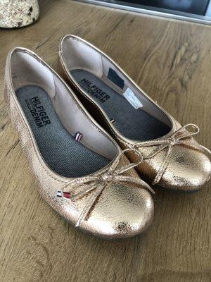 Ballerinas in Gold von Tommy Hilfiger