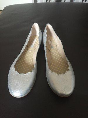 Ballerinas in Silber der englischen Marke Boden NEU, Gr.39