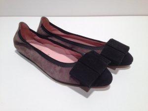 Ballerinas in toller Farbkombination, Taupe-schwarz