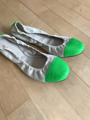 Kennel + schmenger Foldable Ballet Flats cream-neon green