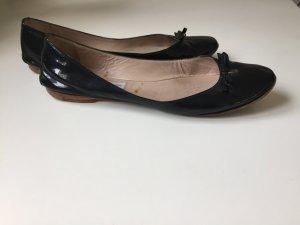 L'Autre Chose Patent Leather Ballerinas black leather