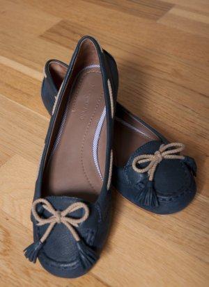 Ballerinas / Loafers von Marc O'Polo 37 navyblaues Leder