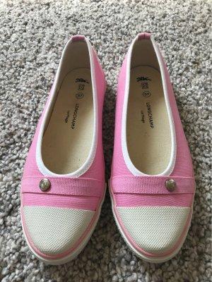 Longchamp Ballerina aperta sul tallone rosa