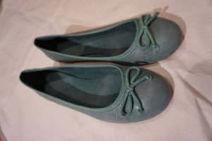 Massimo Dutti Ballerinas turquoise leather