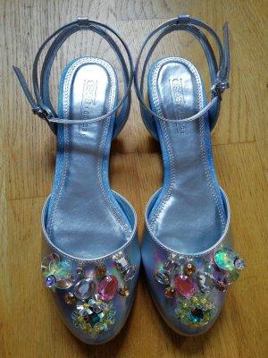 Ballerinas Metallic 3D Blumen Asos 38