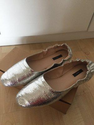 Ballerinas metallicoptik silber von Mango