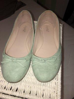 Ballerinas mint grün 38 Wildleder Look