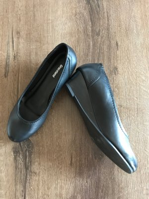 Graceland Patent Leather Ballerinas black