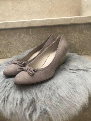 Ariane Décolleté con zeppa crema-marrone-grigio