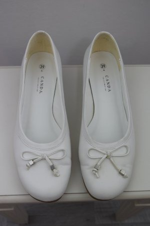 C&A Patent Leather Ballerinas white