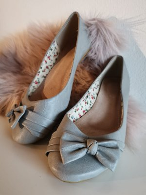 Patent Leather Ballerinas grey