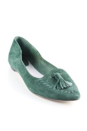 Ballerinas mit Spitze waldgrün Street-Fashion-Look