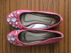 Patent Leather Ballerinas white-pink