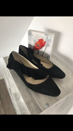 Zara Basic Ballerinas black-beige