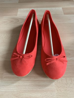 Anna Field Ballerinas with Toecap red