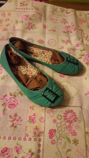 Ballerinas Schuhe türkis neu