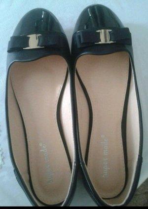 Ballerinas schwarz gold