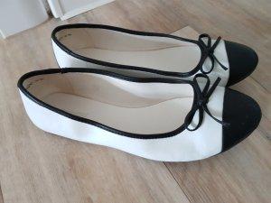 Ballerinas schwarz weiß