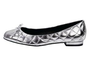 Heine Ballerinas silver-colored synthetic
