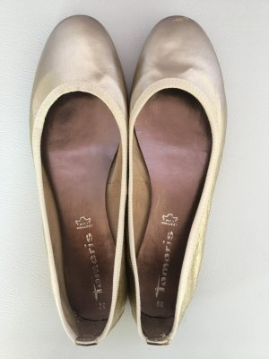 Tamaris Ballerinas gold-colored-cream