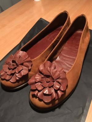 Ballerinas brown leather