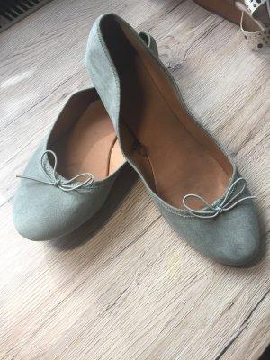 H&M Ballerinas sage green-pale blue