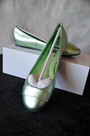B&C collection Ballerinas lime-green leather