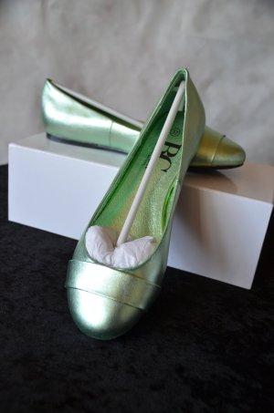 B&C collection Ballerina verde chiaro Pelle