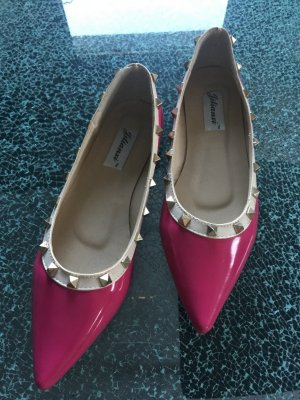Ballerinas Valentino Style pink mit Nieten 39 neu!!!
