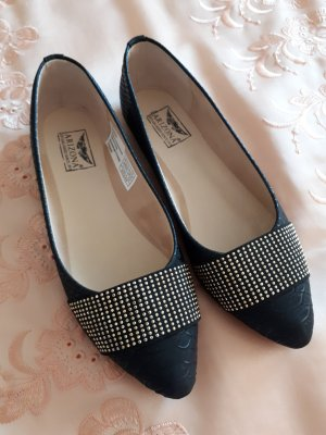 Arizona Ballerinas with Toecap black-silver-colored