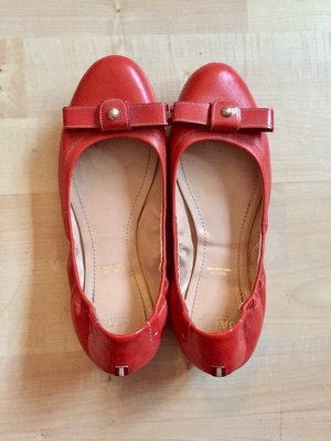 Bally Ballerines pliables rouge clair