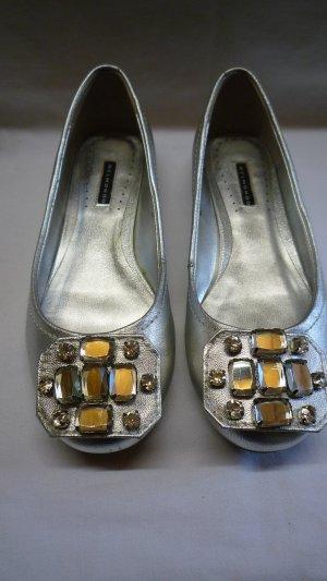 Belmondo Ballerinas silver-colored leather