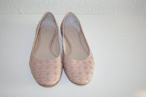 Ballerinas von Chloé, nude mit Nieten, Gr.36 - sehr guter Zustand